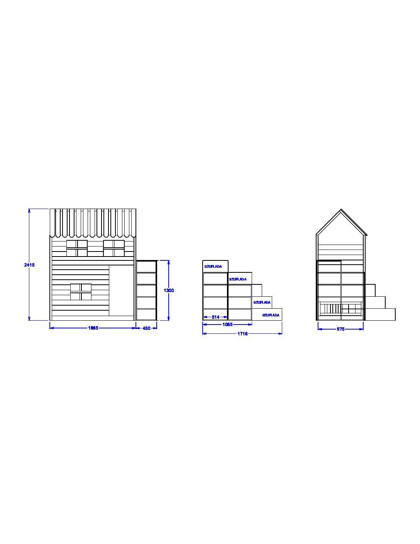 Oryginał Łóżeczko piętrowe projekt indywidualny 3 – Jest taka pracownia… WK96